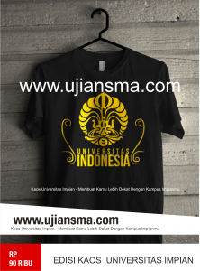 kaos universitas Indonesia