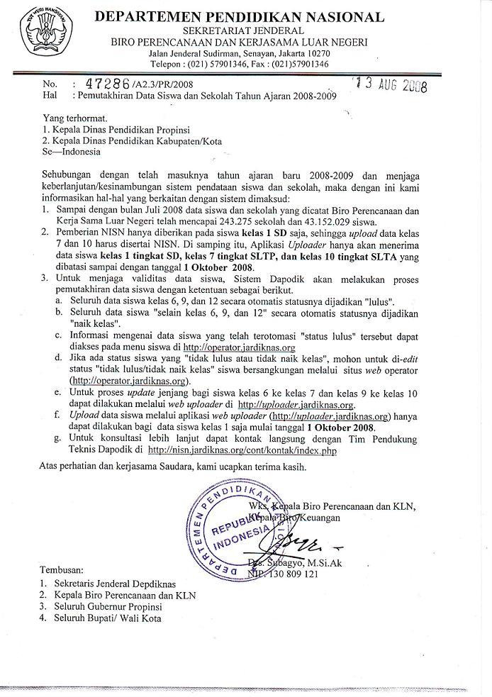 Surat Dinas Merupakan Surat Yang Cukup Penting Ujiansmacom