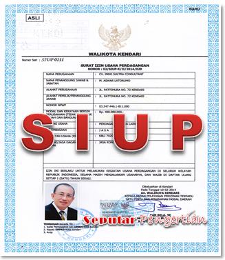 Siup Surat Izin Usaha Perdagangan Ujiansma Com
