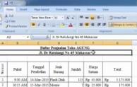 Cara mengubah format huruf di Ms. Excel
