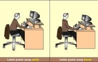 Posisi Duduk Saat menggunakan Komputer