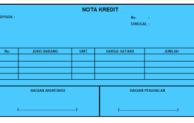 Pengertian nota kontan dan nota kredit