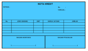Pengertian Nota Kontan Dan Nota Kredit Ujiansma Com