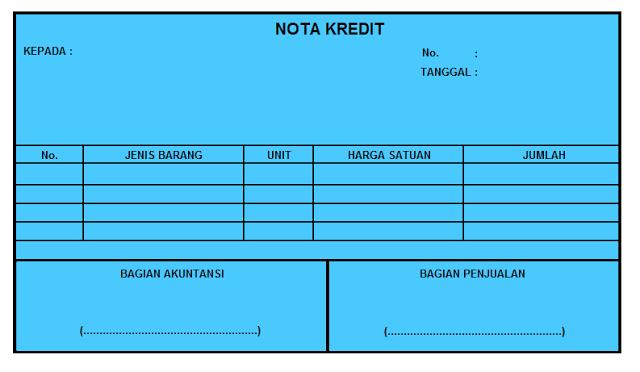 Pengertian Nota Kontan Dan Nota Kredit Ujiansmacom