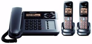 Kx-tg1062m-diupgrade-kantor-Digital-tanpa-kabel-dijalin-dgn-tali-telepon-dengan-mesin-penjawab-telepon-Metalik