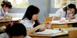 Ilustrasi Siswa mengikuti ujian nasional SMA-SMK sederajat